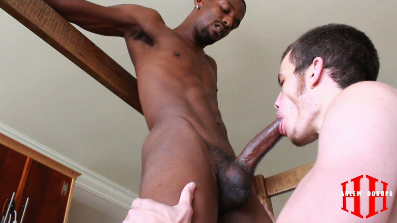 Hunk sucks exhausted studs dick in bed