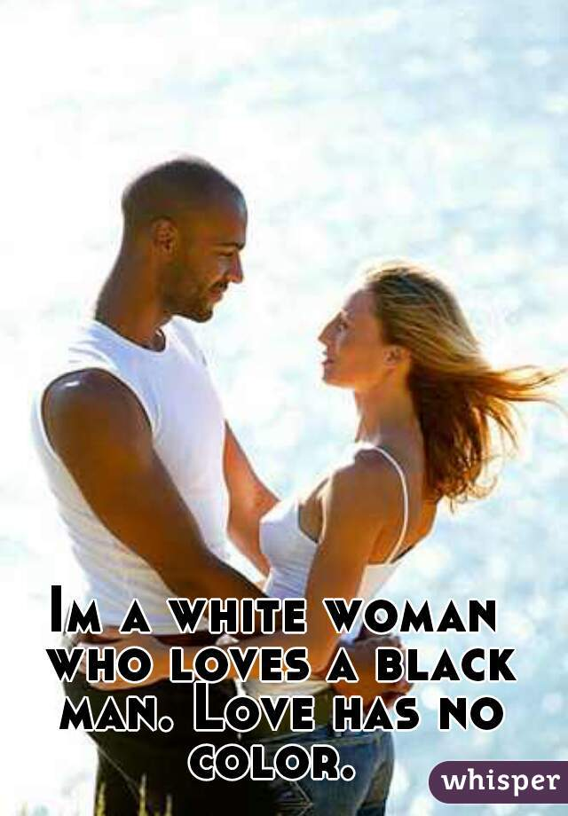 Black man white woman love