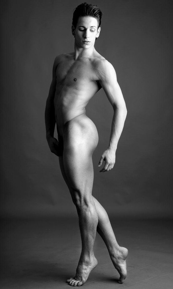 Nude male dancing
