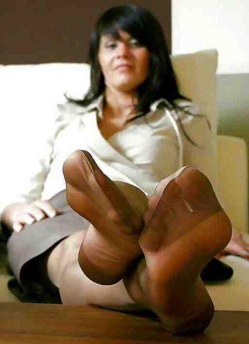 best of Nyloned feet Milf