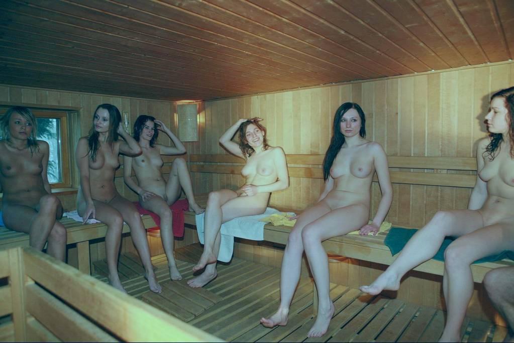 Sauna naturist nude naked girls