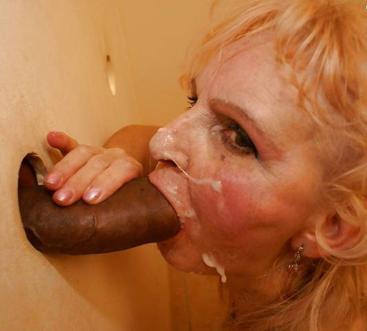 Ugly glory hole blowjob thumbs