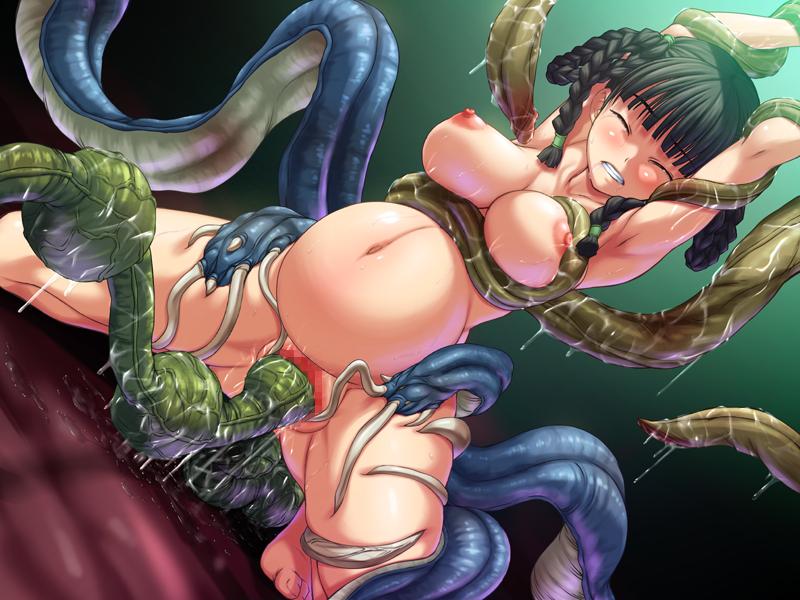 Monters hentai anime tentacle