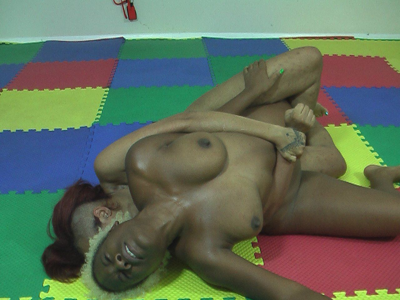 Final, sorry, Black women wrestling naked