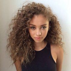 Curly hair mixed girls nude