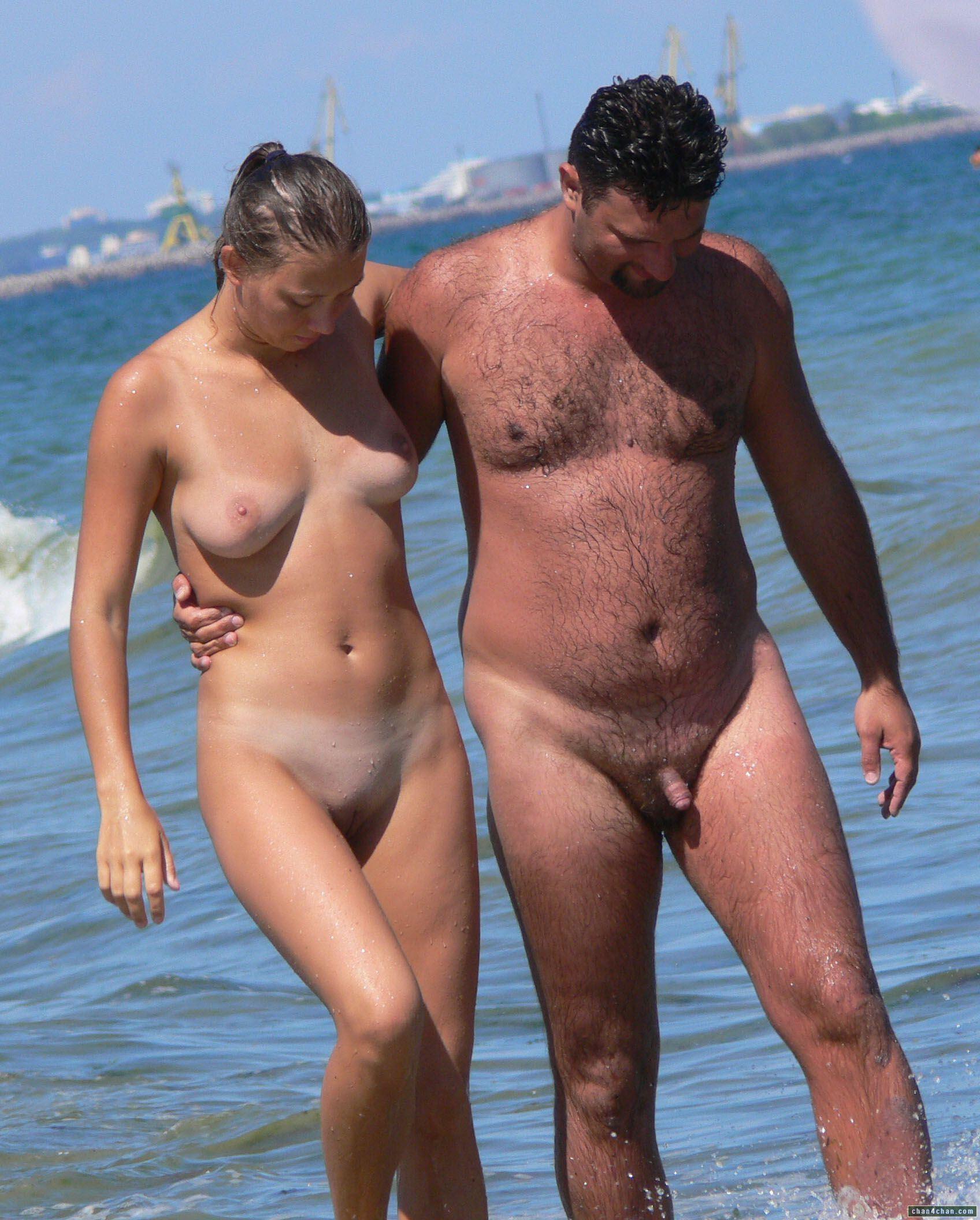 Small cock on nudist beach