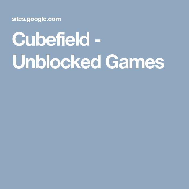 Fun cubefield
