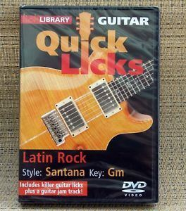 Cartier reccomend Santana instructional dvd lick library