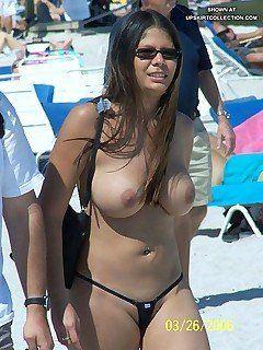 Upskirt xxx beach binkini