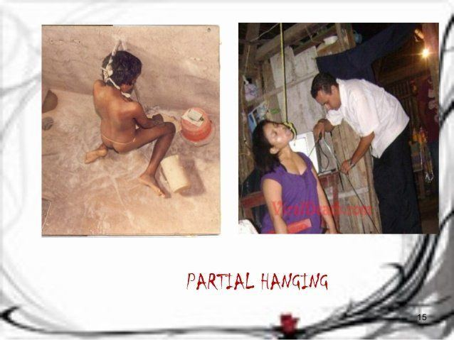 Masturbation partial hanging