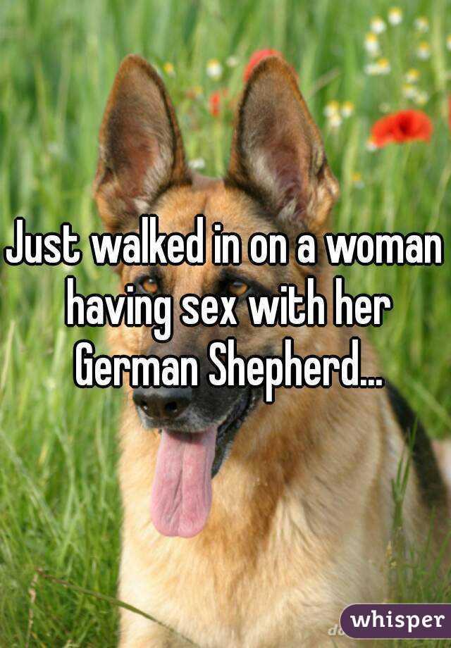 best of German with having Girl shepherd sex