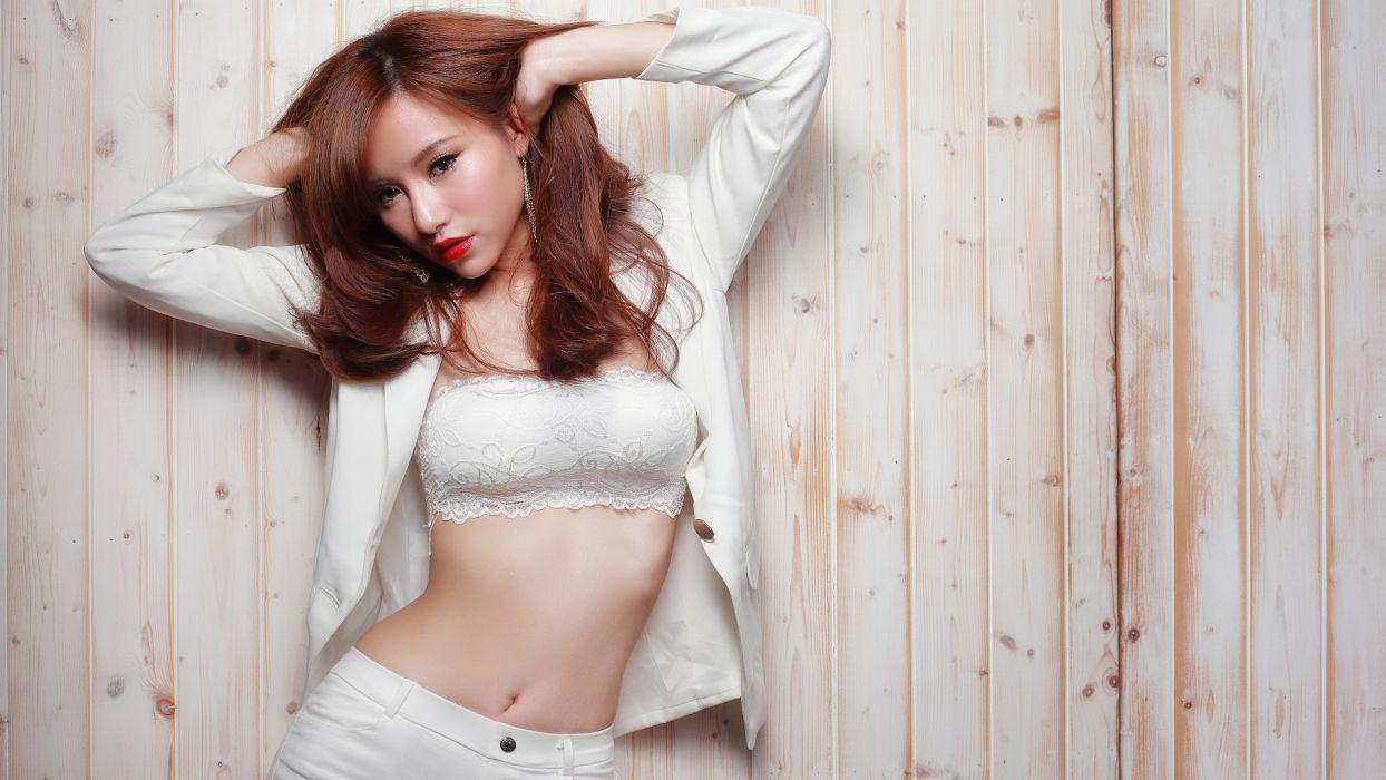 Asian girl belly