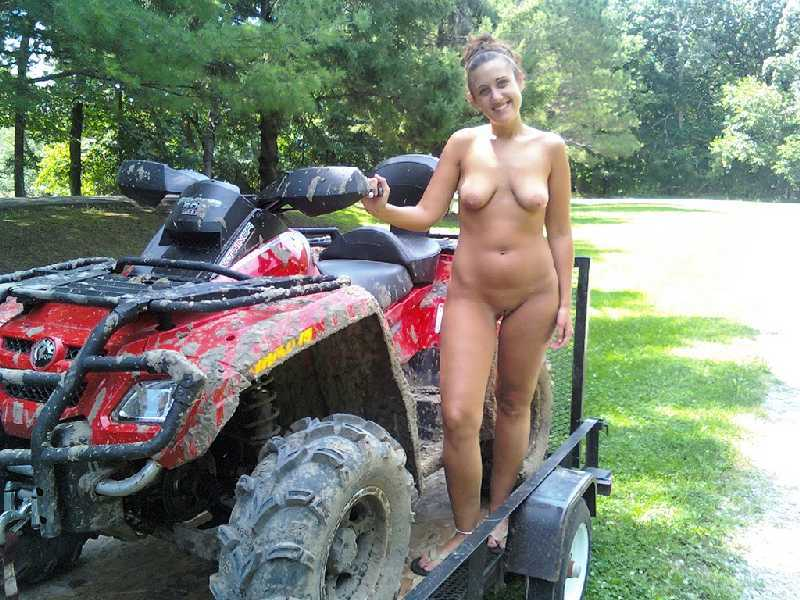 Sexy chicks nude on atv