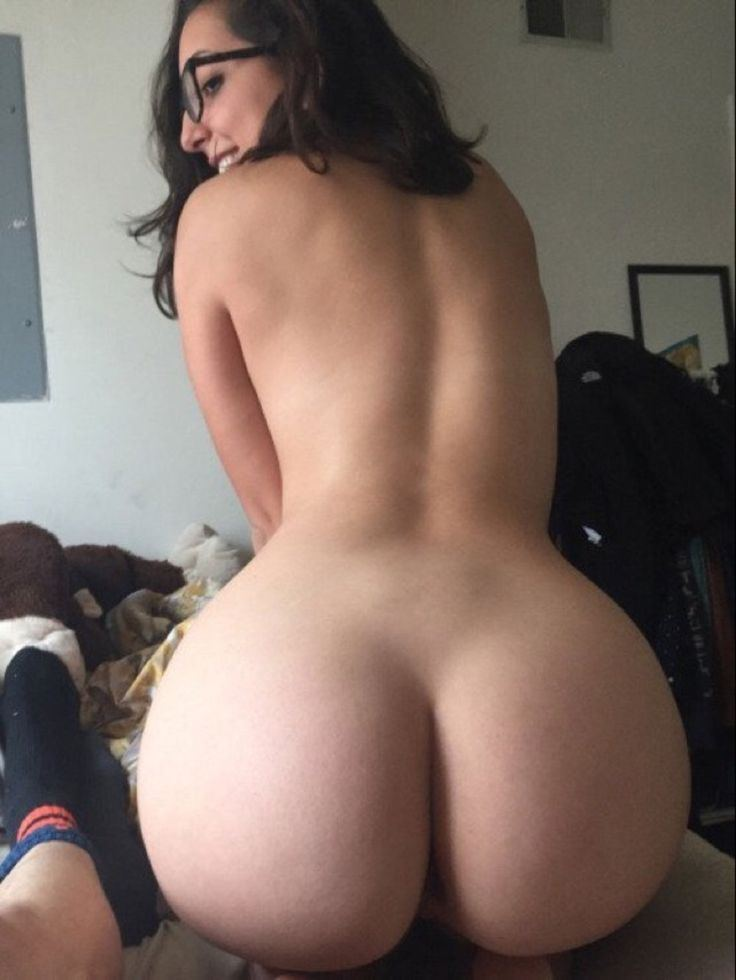 Nude woman butt