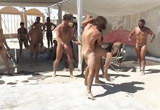 Sportstars Naked Gang Bang Burning Man
