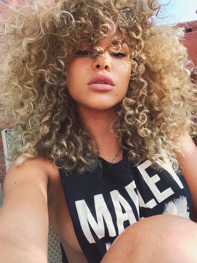 best of Nude Curly girls hair mixed