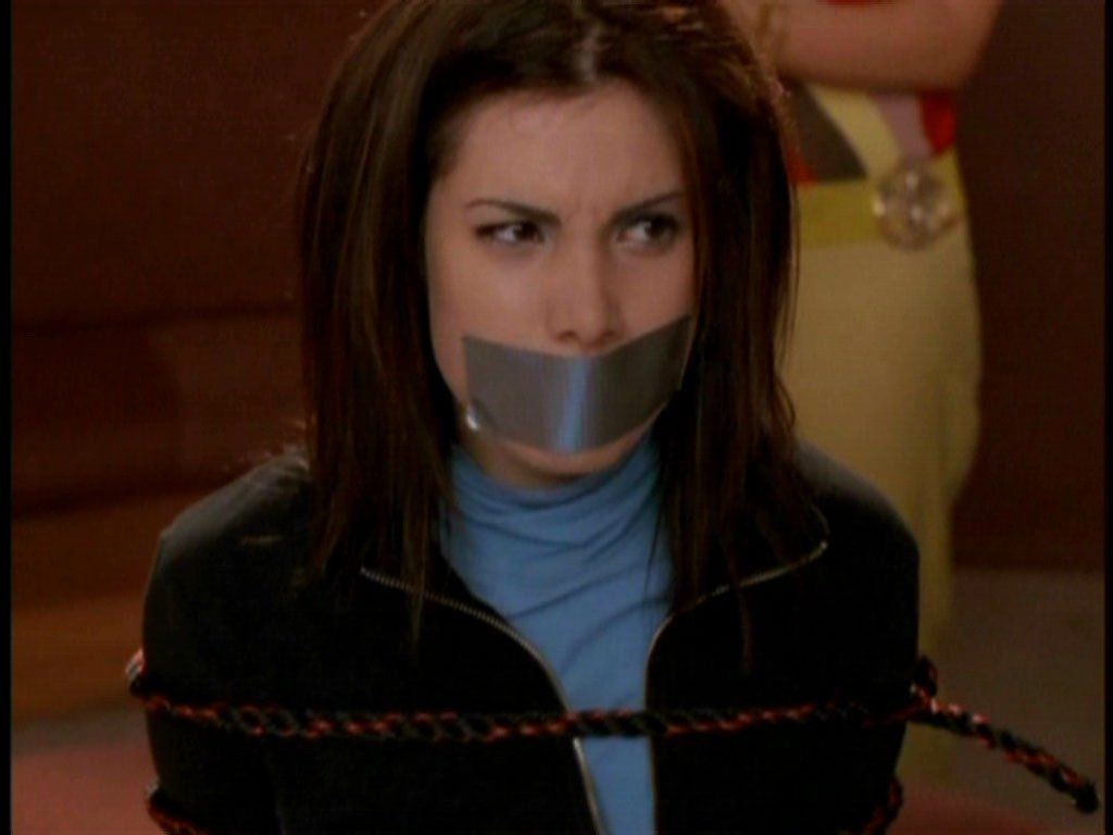 Duct taped mouth gagged and penetrated