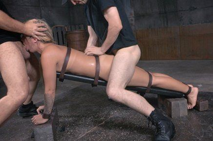 Girl bound and ass fucked