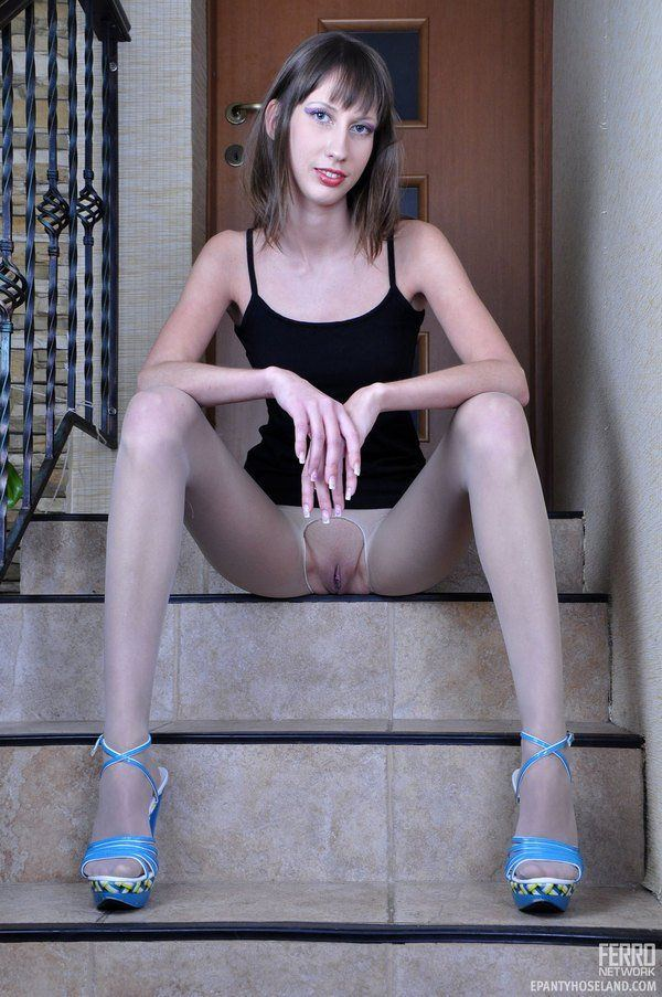 best of Crotchless pantyhose in Girls