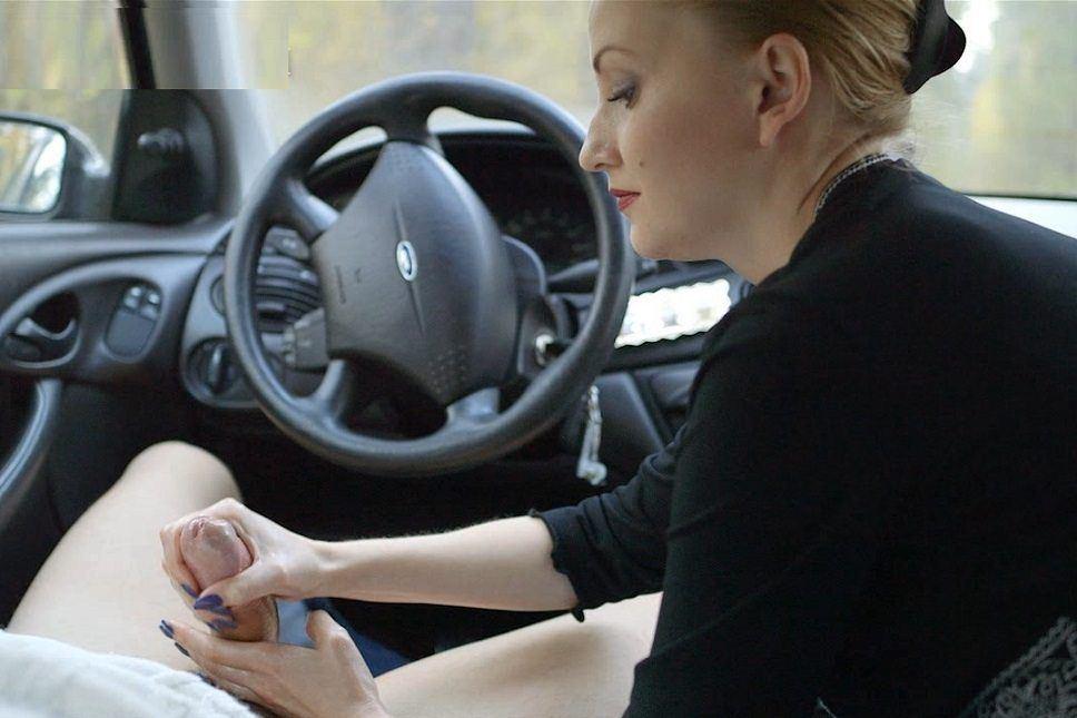 Handjob video in car