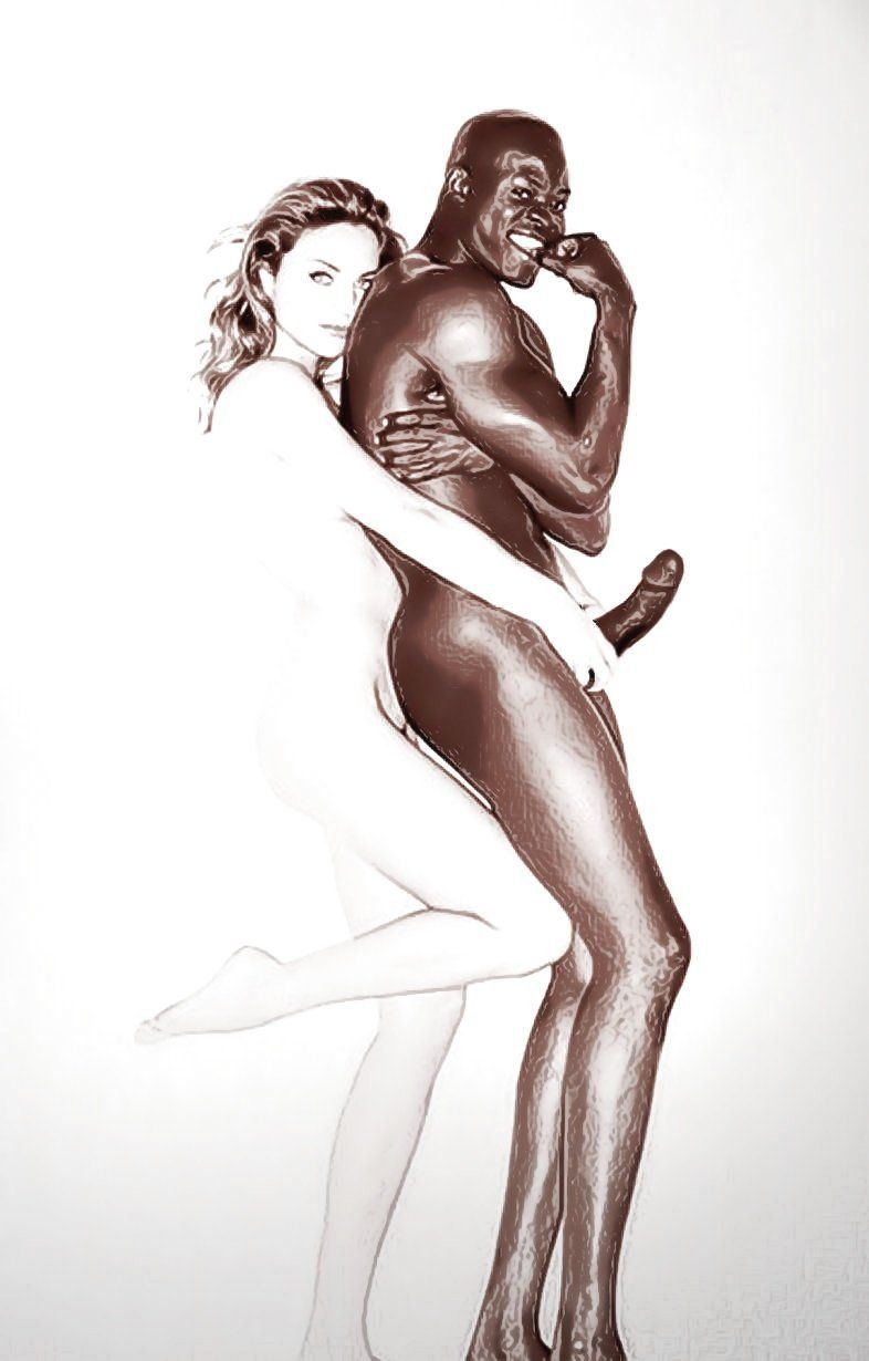 Interracial sex drawings and cartoons