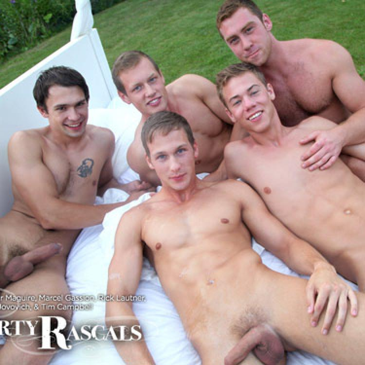 Naked male orgy