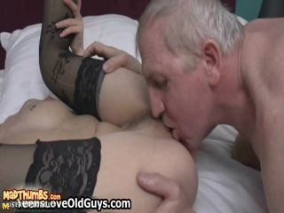 Mature redhead and young