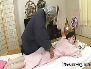 Sex of girl oldman room